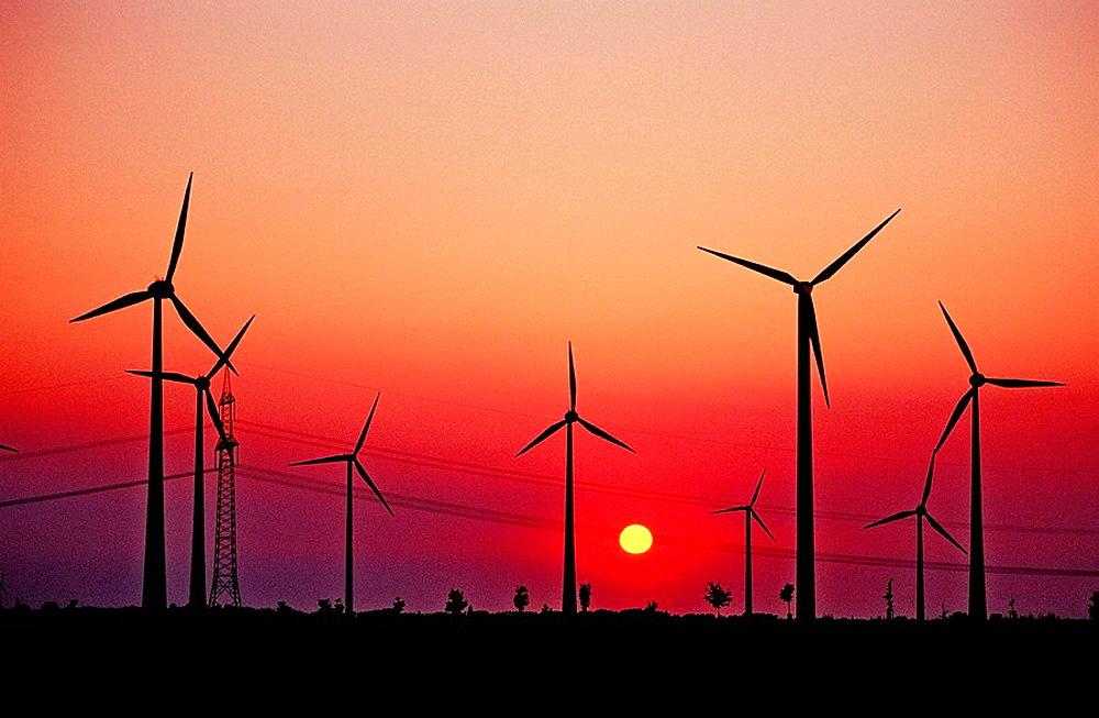 Wind farm, Germany, Leipzig