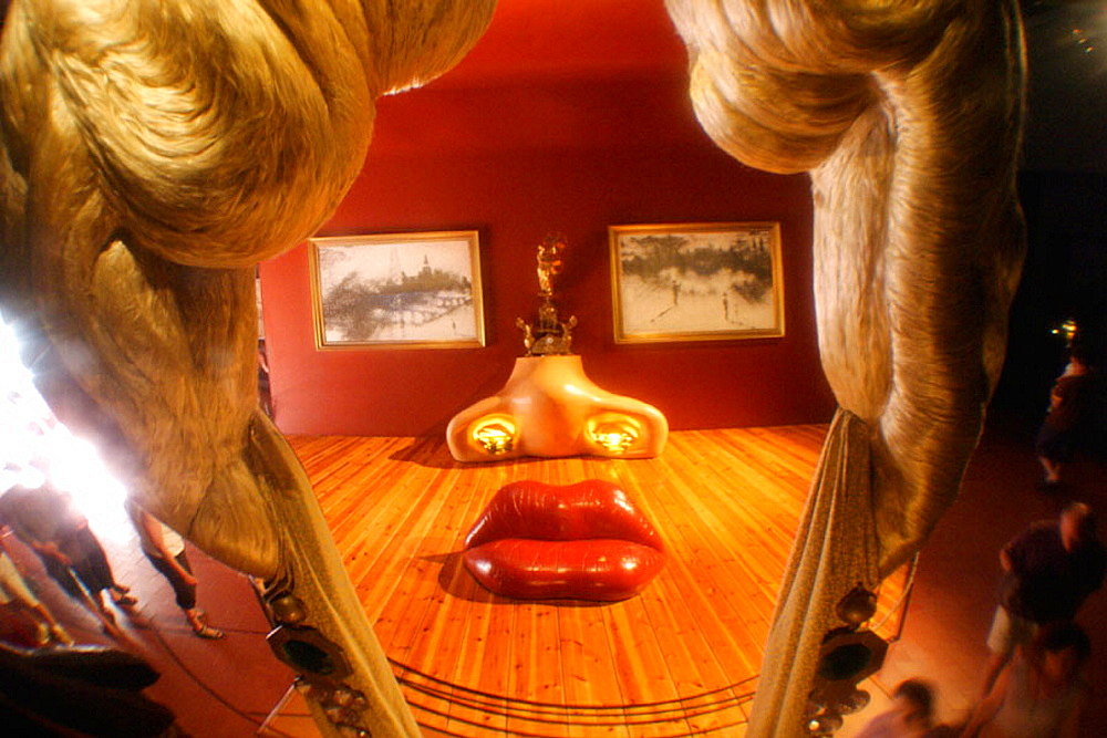 Mae West in Dali Museum, Figueres, Girona province, Catalonia, Spain