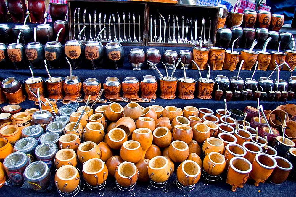 Mate gourds in the Tristan Narvaja street market, Montevideo, Uruguay, 2008