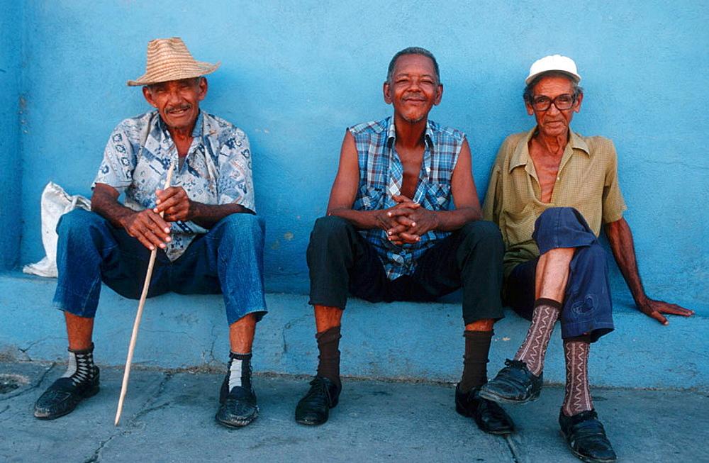 Three old Cubans