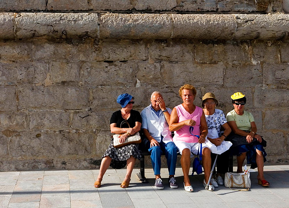 Old people, The beach at Estoril, Portugal