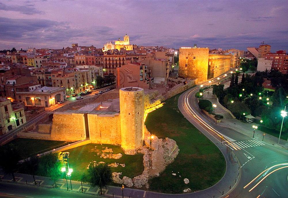 Palau dAugust, also known as Pretorio or Castell del Rei, now Museu dHistoria de Tarragona, Tarragona, Catalonia, Spain