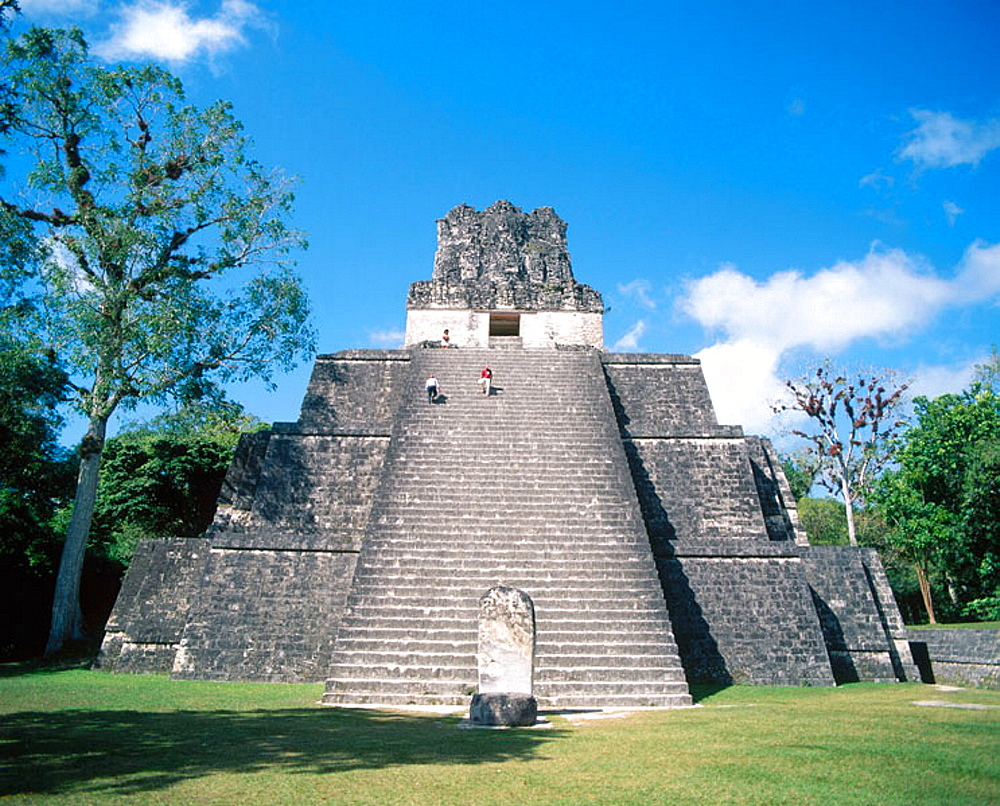 Temple II, Mayan ruins of Tikal, Guatemala