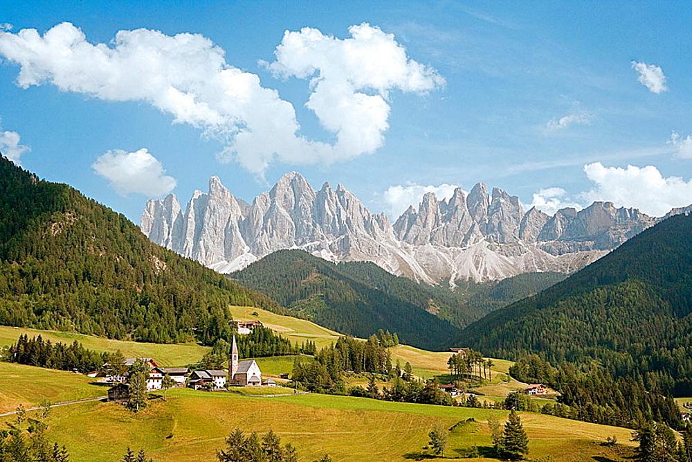 Funes Valley, Dolomite Alps, Italy.