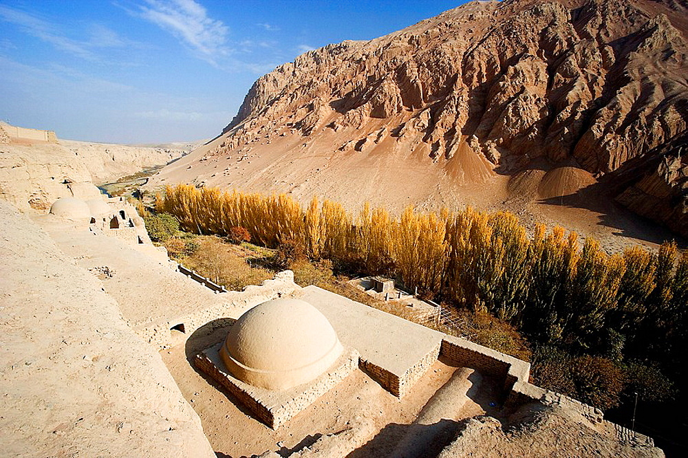 The Silk Road, Bezeklik Thousand Buddha Caves, Turpan City, Xinjiang Province, China, Nov, 2006