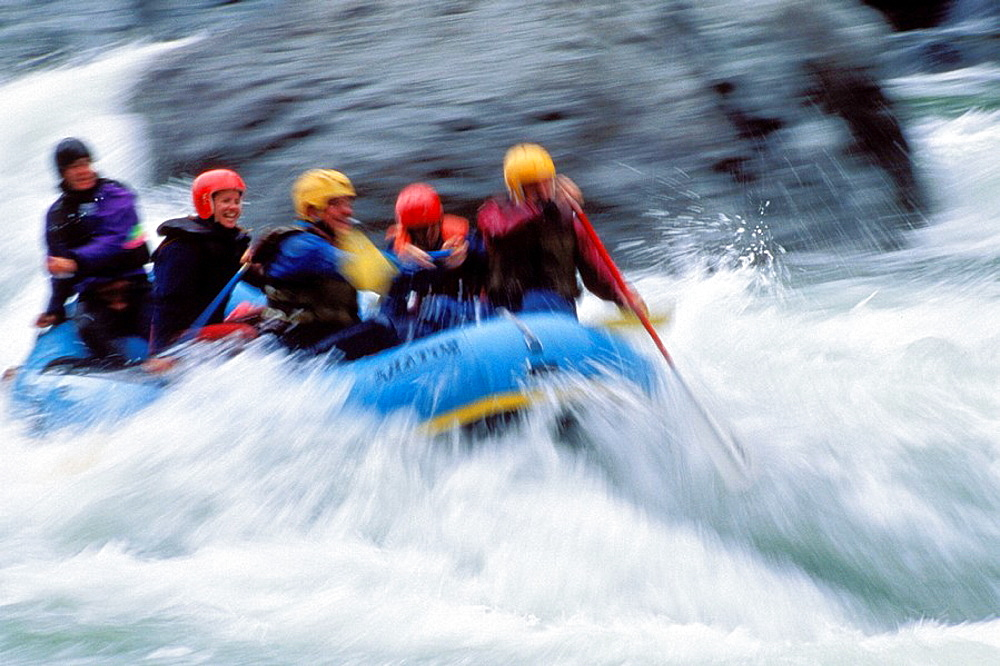 Rafting action on the Caning river ANWR, Alaska, USA