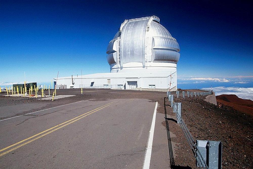 Keck Observatory on the summit of Mauna Kea on the Big Island of Hawaii