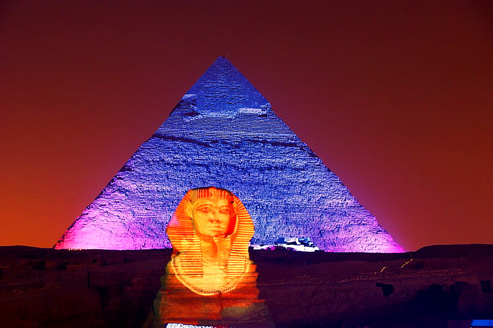 The sphynx, Pyramids of Gizeh, Egypt.