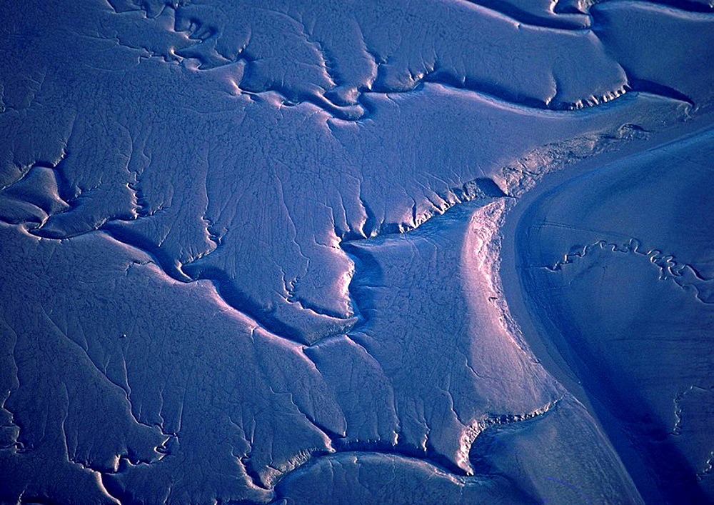 aerial photo of the minas basin mud flats in nova scotia canada