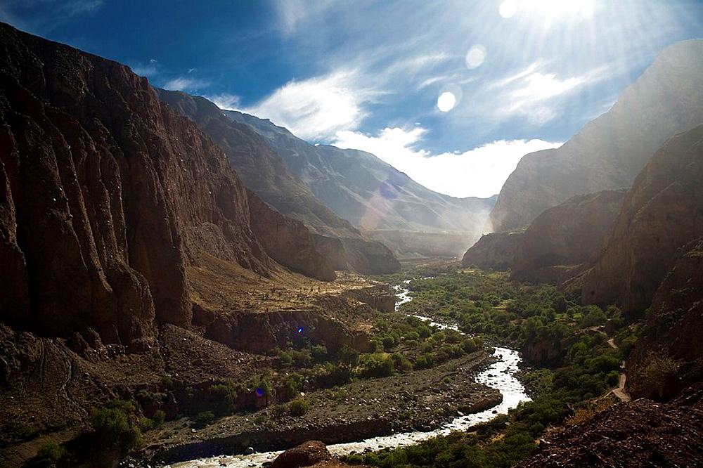 Catarata de Sipia  Cotahuasi Canyon area, deepest canyon of the world, 3,535 metros  Peru