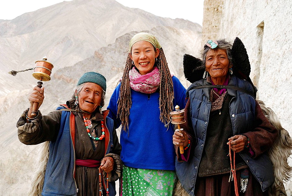 Mainly the older generation in Ladakh is often being seen praying They repeat their ' Om Mani Padme hum ' over and over again