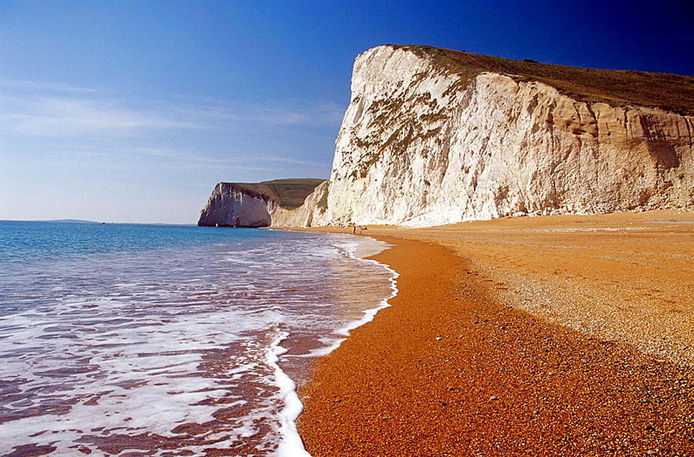 Beach at Bat's Head, Dorset, England, UK
