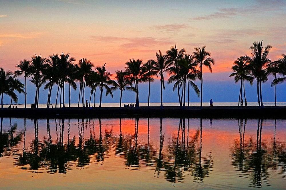Oct, 2007, USA,Hawaii State, Big Island (Hawai Island), North Kona Coast, Waikoloa City, Sunset
