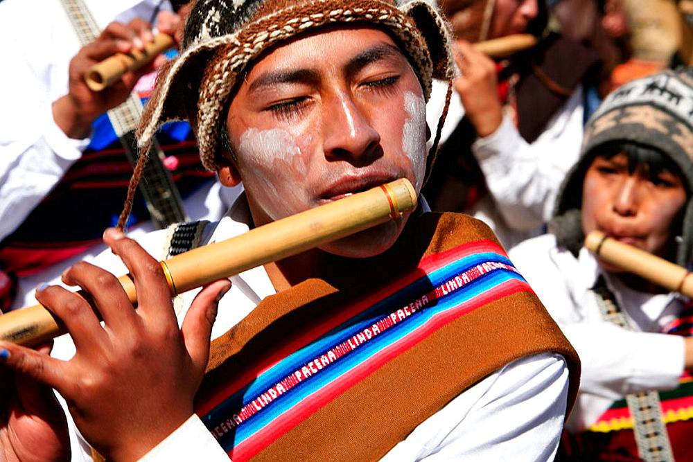 Flute Player, Chutillos Festival, Potosi, Bolivia