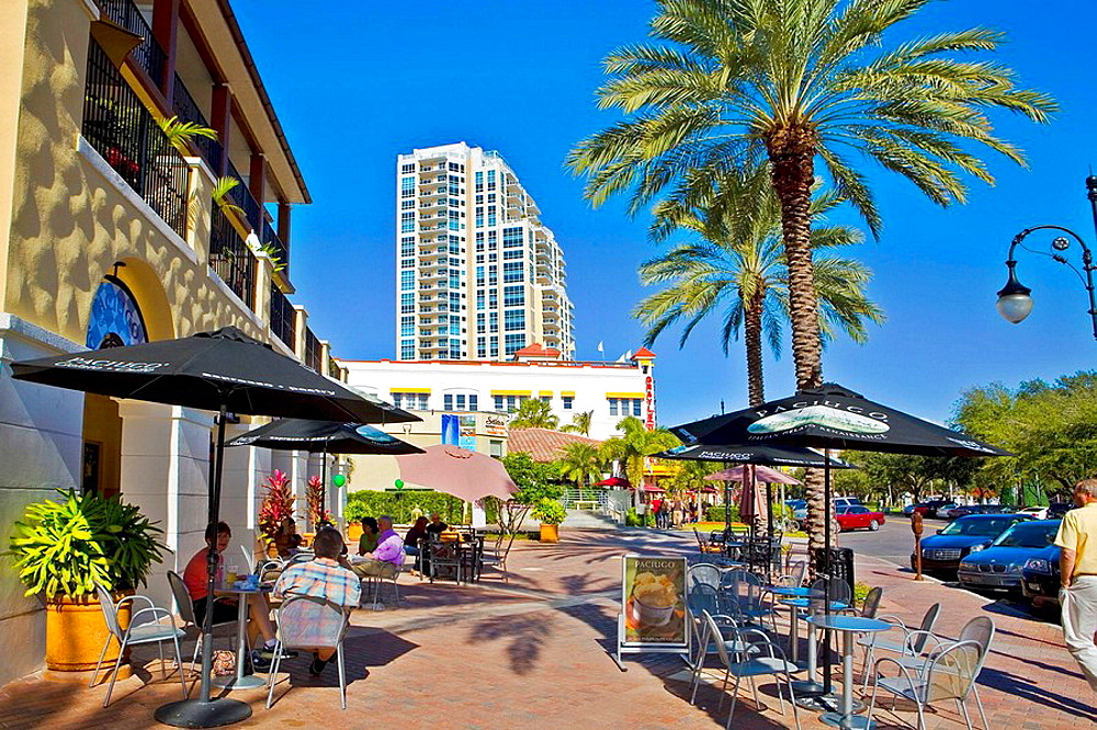 Cafes, Beach Drive, St Petersburg, Florida
