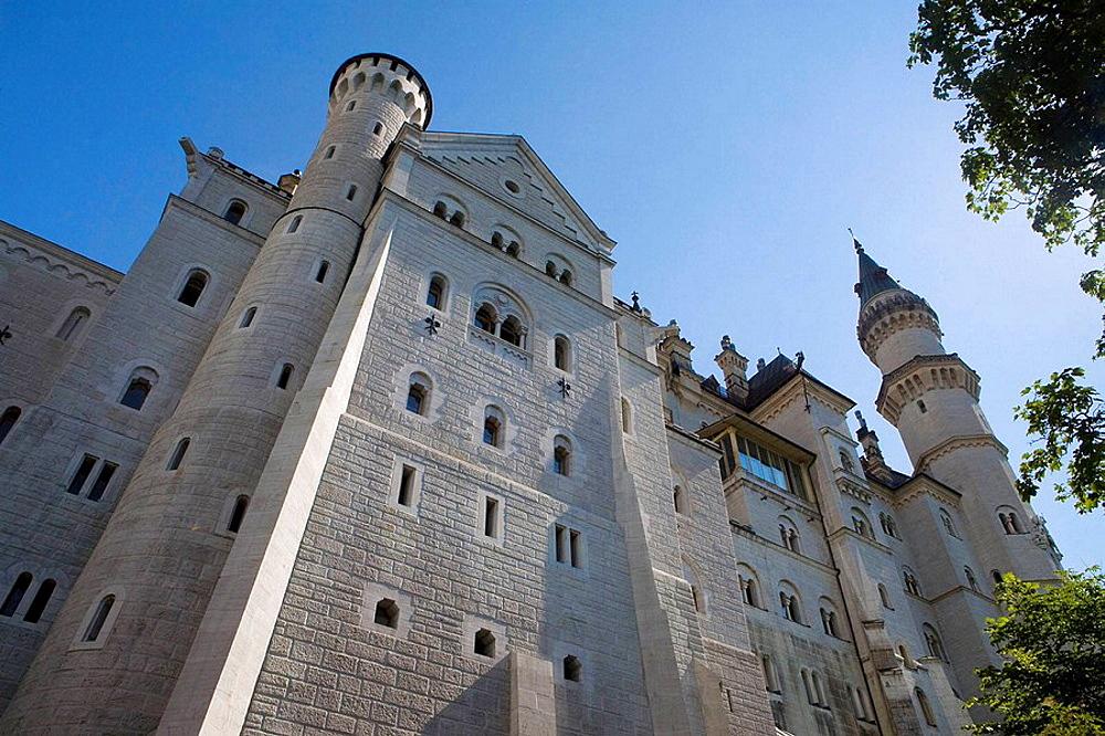 Castle of Neuschwanstein, Built by Ludwig II of Bavaria, Fussen, Bavaria, Germany, Europe,