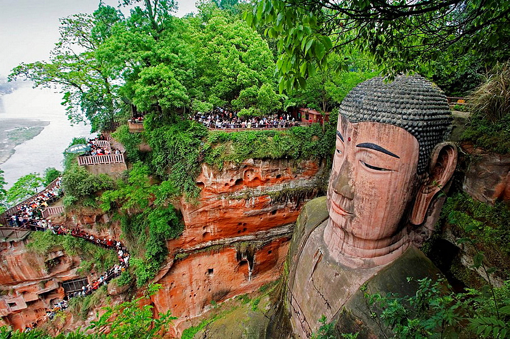 China- April 2008, Sichuan Province, Leshan City, The Grand Buddha (Da Fo) W.H.