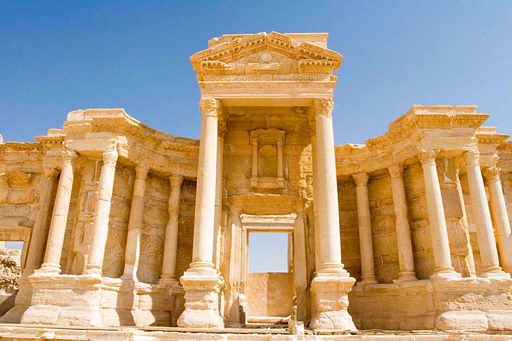 Amphitheater, Ancient city of Palmyra, Syria