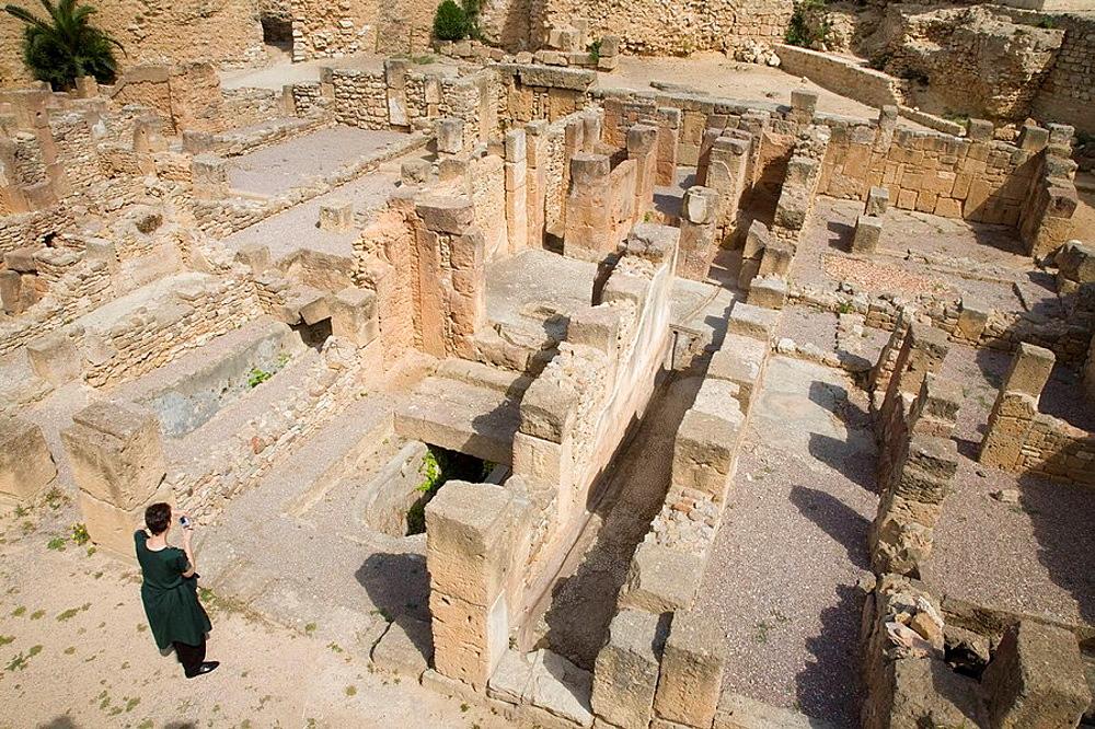 TUNIS, ANCIENT ROMAN CITY OF CARTHAGE, UNESCO HERITAGE SITE