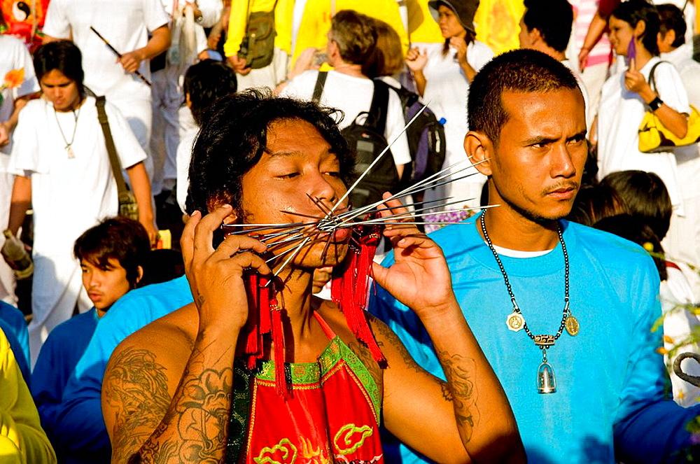 Sceens of Phuket's Vegetarian festival - 817-200642