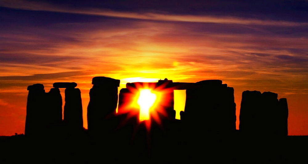 Stonehenge is a prehistoric monument located in the English county of Wiltshire, about 8 miles (13 km) north of Salisbury - 817-203398