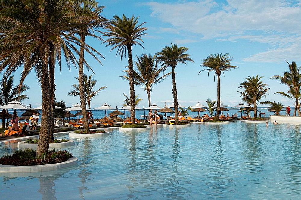 Tropical swimming pool, Mauritius.