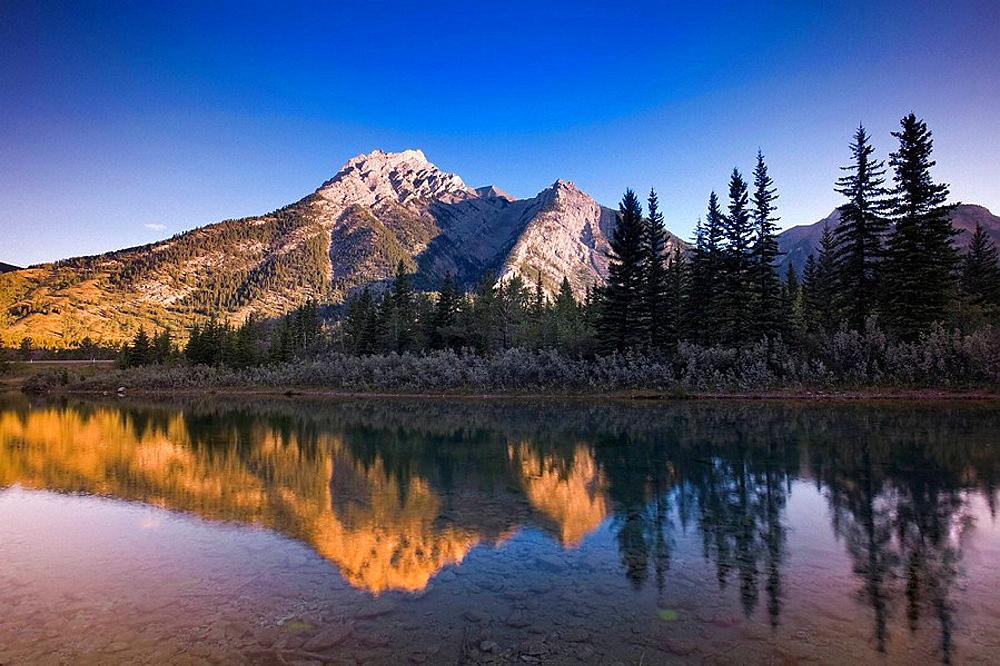 Mt Lorette and Lorette Ponds, Kananaskis Country Provincial Park, Alberta, Canada