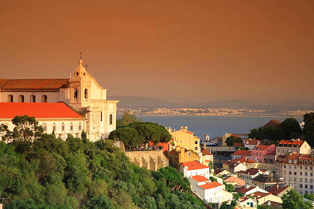 Santo Estevao Church and Alfama District, Lisbon, Portugal