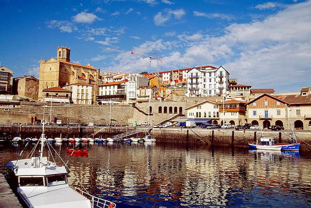 Harbour  Guetaria  Guipuzcoa province  Basque Country  Spain