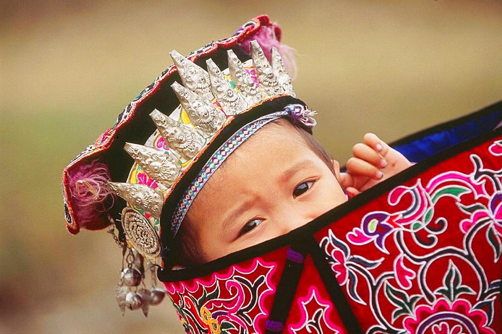 Shui child, dabian village, guizhou, China