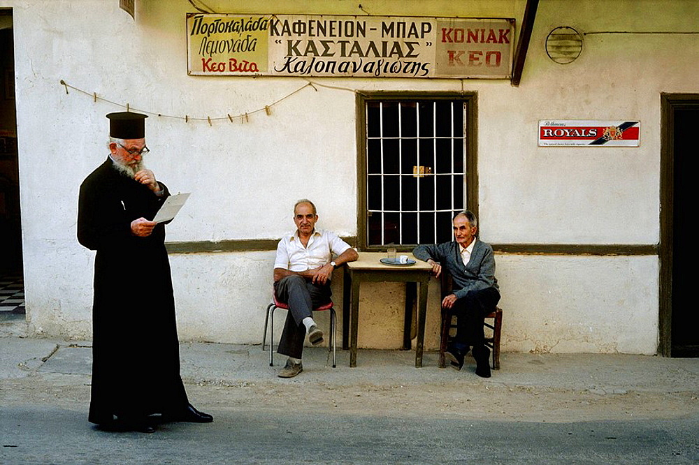 Orthodox priest, Kalopanayiotis, Troodos mountains, Cyprus