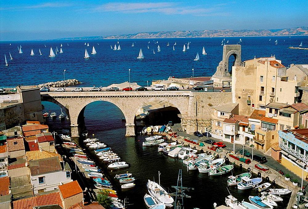 Vallon des Auffes, Marseille, Bouches-du-Rhone, France