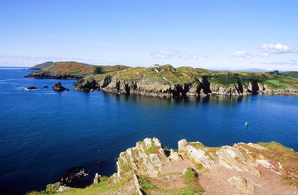 Sherkin Island and entrance channel to Baltimore harbour, County Cork, Ireland