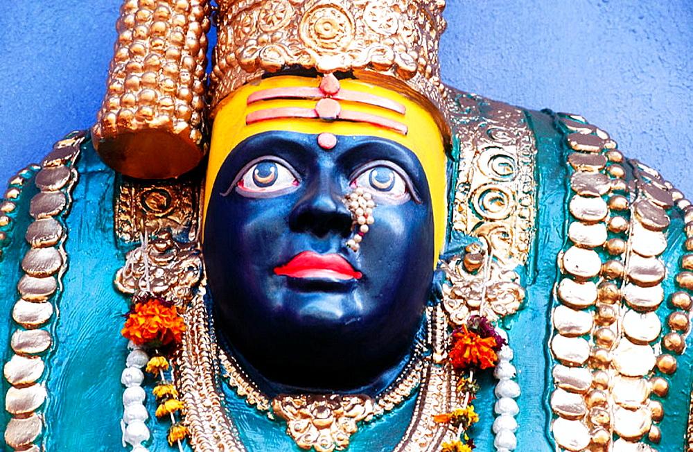 Goddess of Tulajapur Bhavani Mata, Navaratri Festival, Pune, Maharashtra, India.