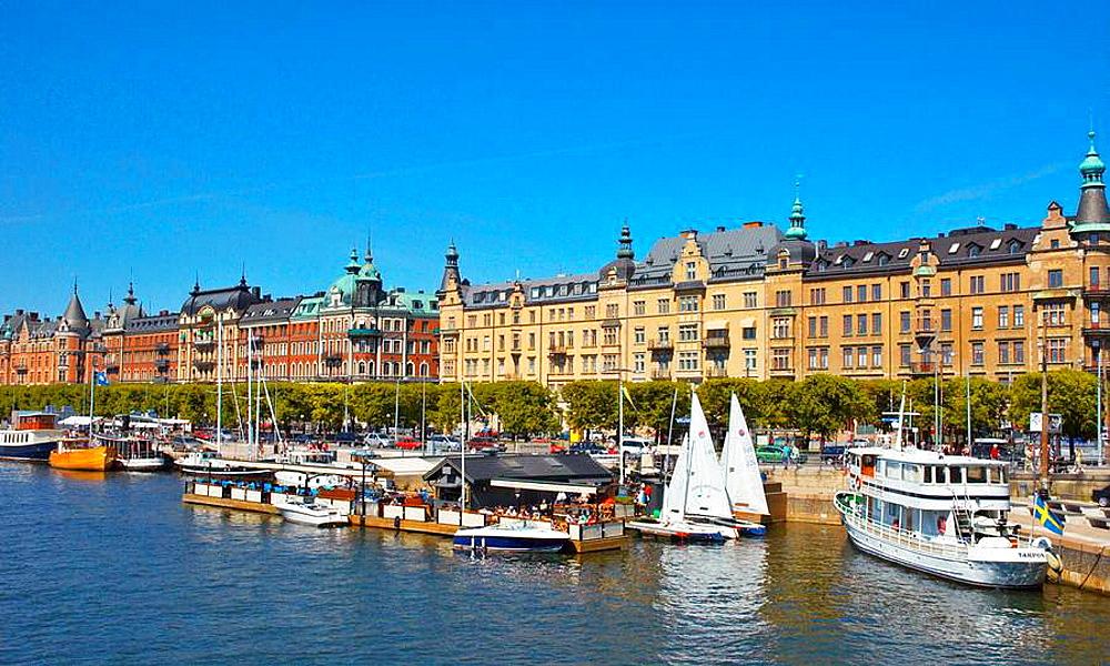 Strandvagen in the district of ostermalm in Stockholm Sweden EU