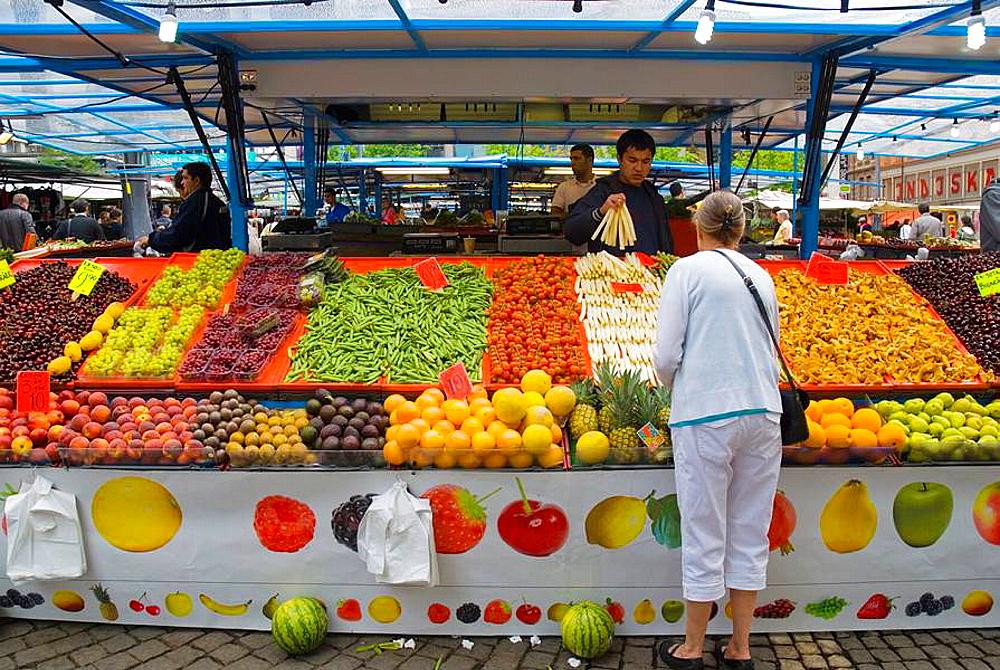 Hotorget market square in central Stockholm Sweden Europe