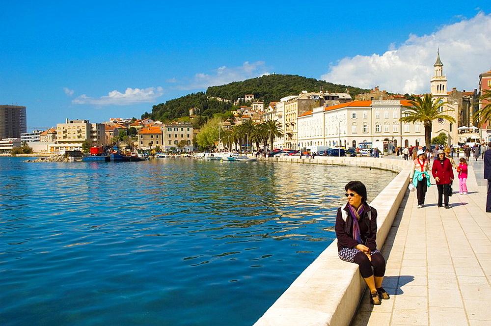 Beach boulevard in Split Croatia Europe