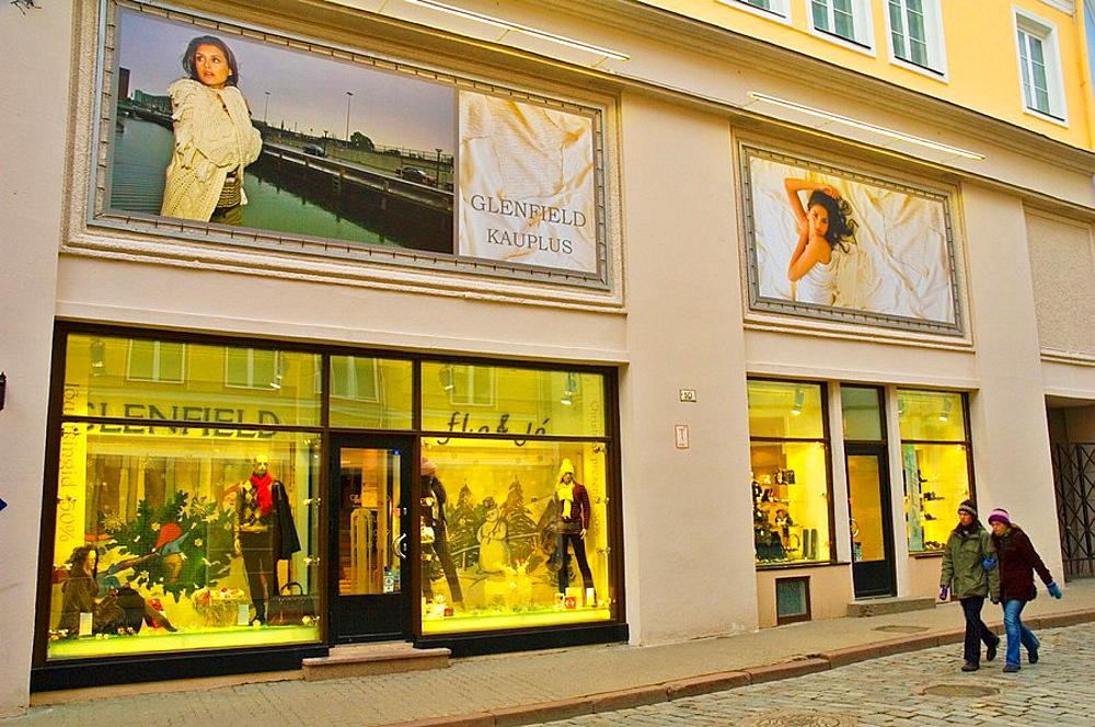 Fashion shop along Viru Street in Tallinn Estonia