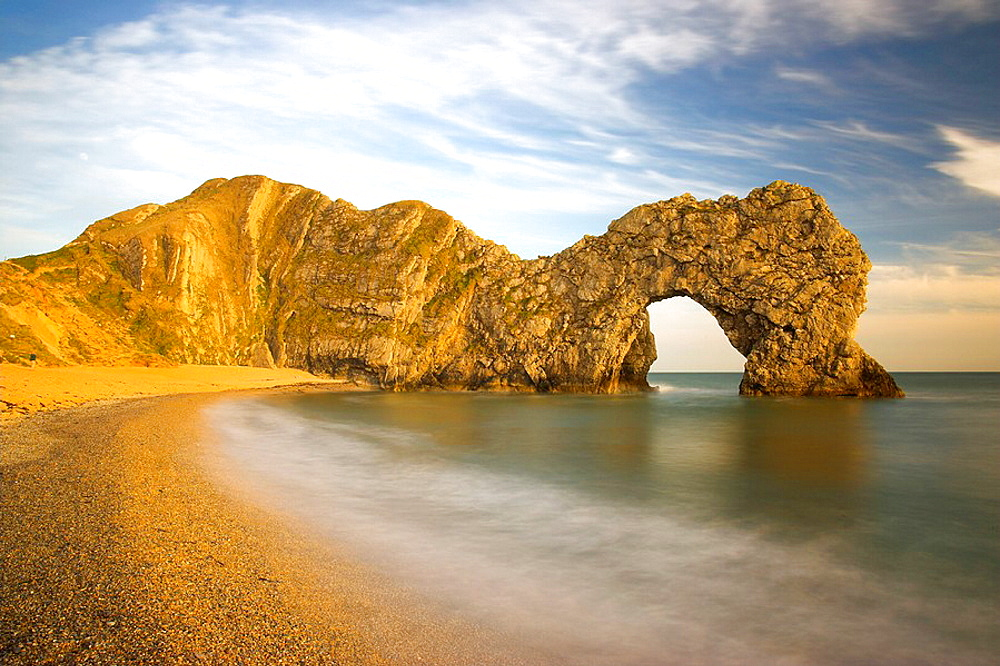 Durdle Door late evening Dorset