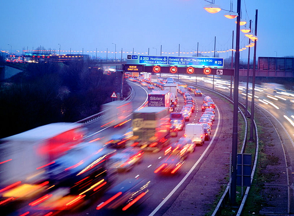 M25 Motorway, London, England