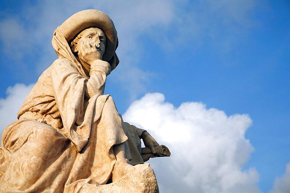 Statue of portuguese Prince Henry the Navigator Infante de Sagres, in Vila Franca do Campo  Sao Miguel island, Azores