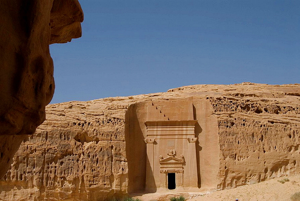 Saudi Arabia, site of Madain Saleh, ancient Hegra, tombs of Nabatean town