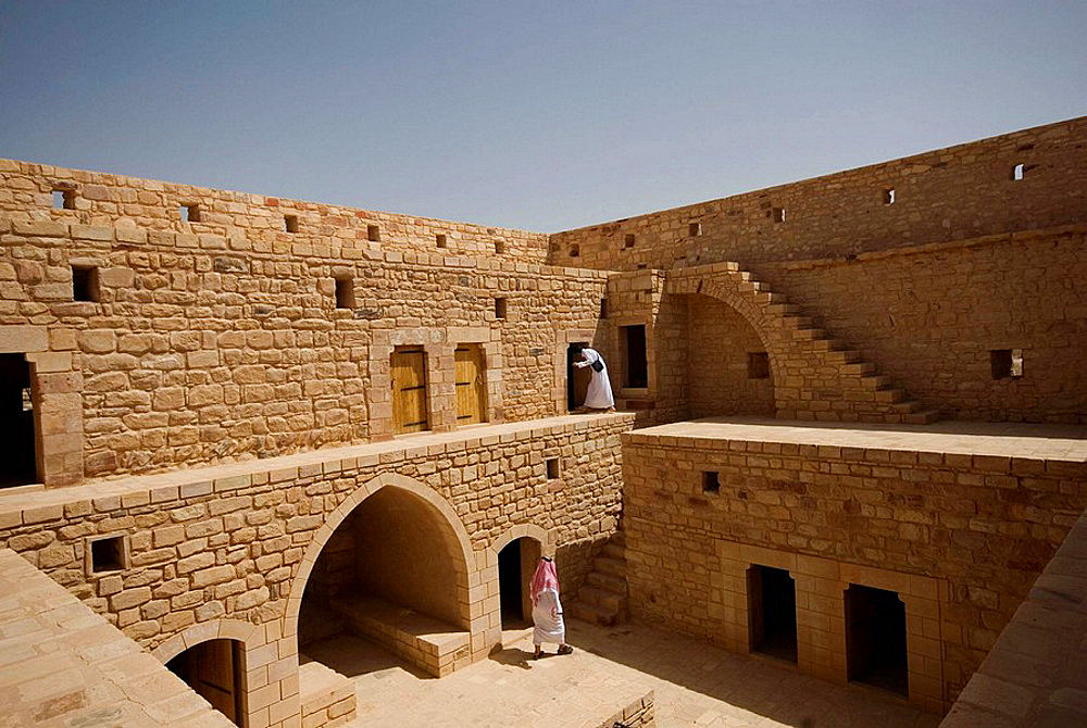 Saudi Arabia, ancient Turkish fort of Madain Saleh inside the site of Hegra Nabatean town