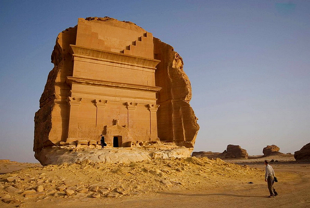Saudi Arabia, site of Madain Saleh, ancient Hegra, Qasr Farid tomb