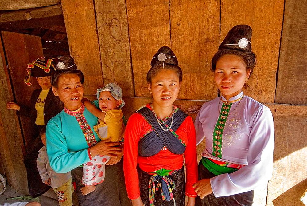 Thai women, Dien Bien Phu, Vietnam