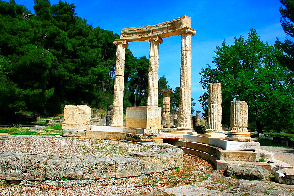 The Philippeion in Olympia, Peloponnese, Greece