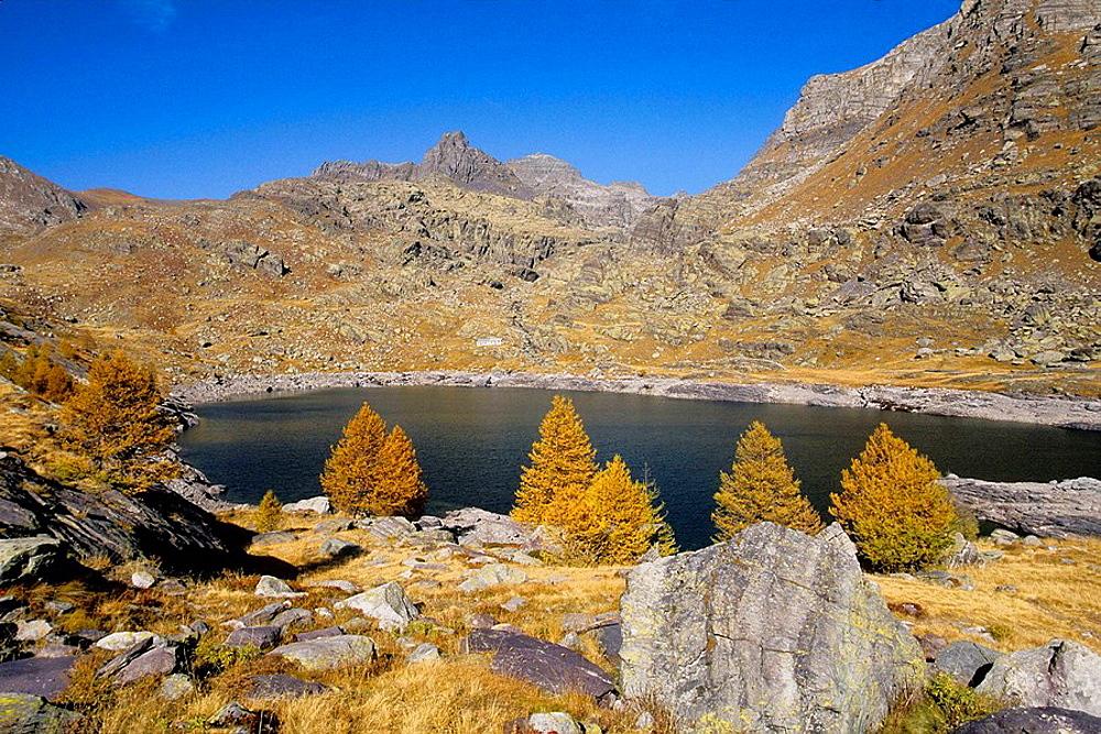 The Lac Long Superieur into the Vallee des Merveilles Mercantour national park Alpes-MAritimes France Europe
