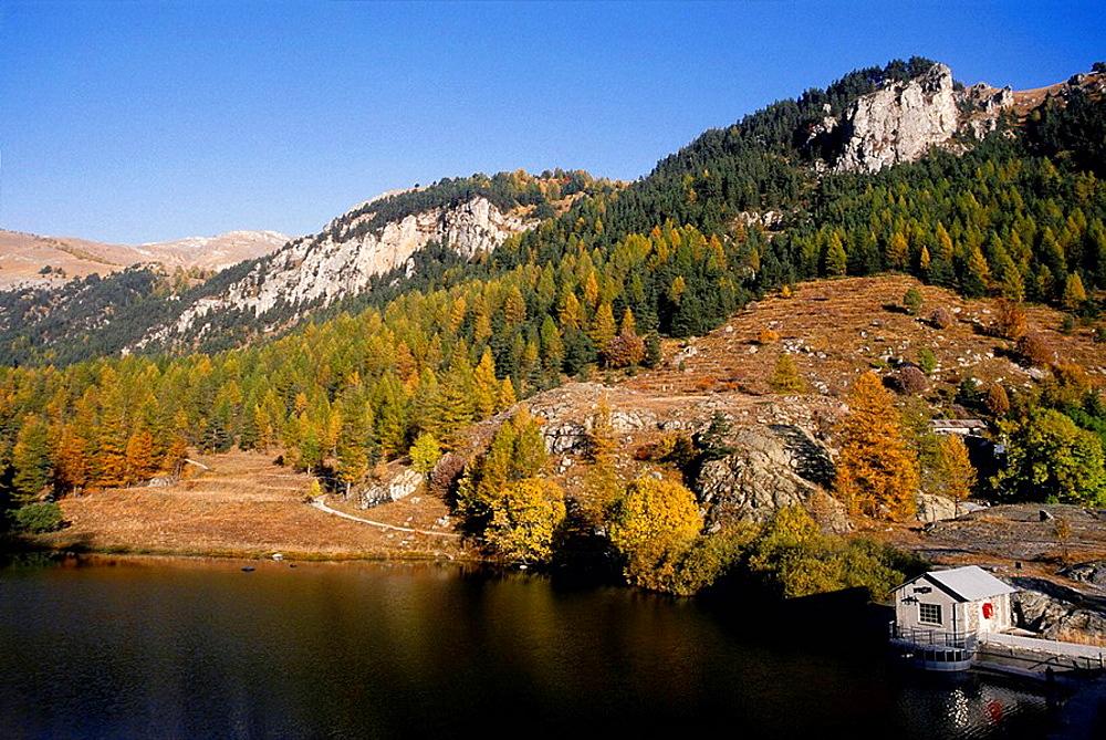 Lake into the Vallee des Merveilles Mercantour national park Alpes-Maritimes 06 France Europe