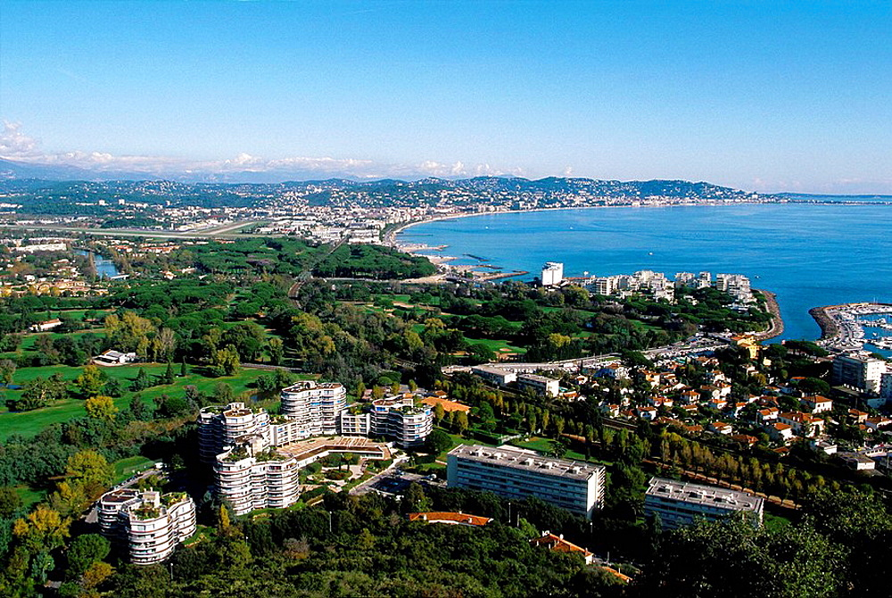 Mandelieu and the bay of Cannes Alpes-Maritimes 06 PACA Cote dAzur French Riviera France Europe