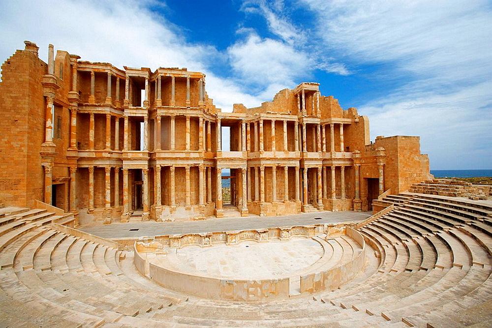 Roman Theatre, Sabratha, Libya, North Africa - 817-223522
